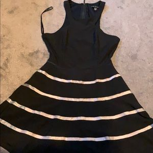 Black and Tan party dress